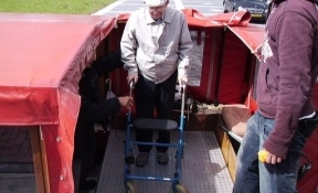 lift voor rollators in de boot