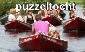 puzzeltocht per boot giethoorn