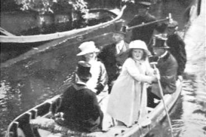 Prinses Juliana in de punter in Giethoorn