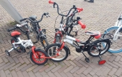 child bike with side wheels, help wheel for rent